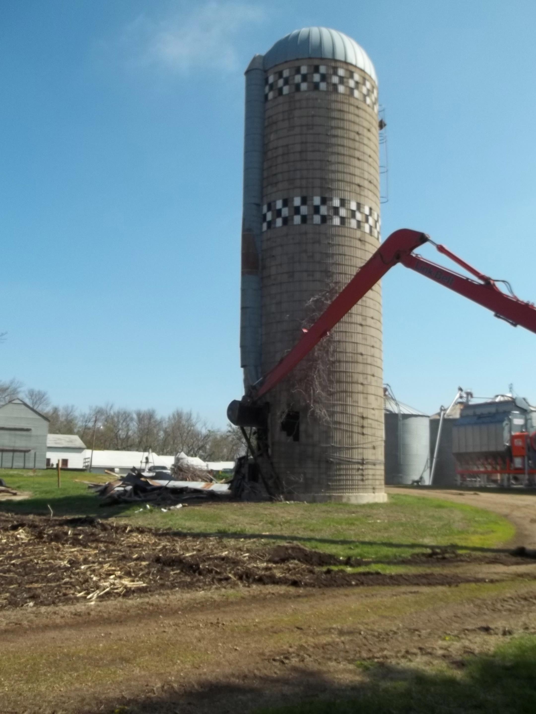 3 Silo Demolition : Silo demolition minnesota farmer